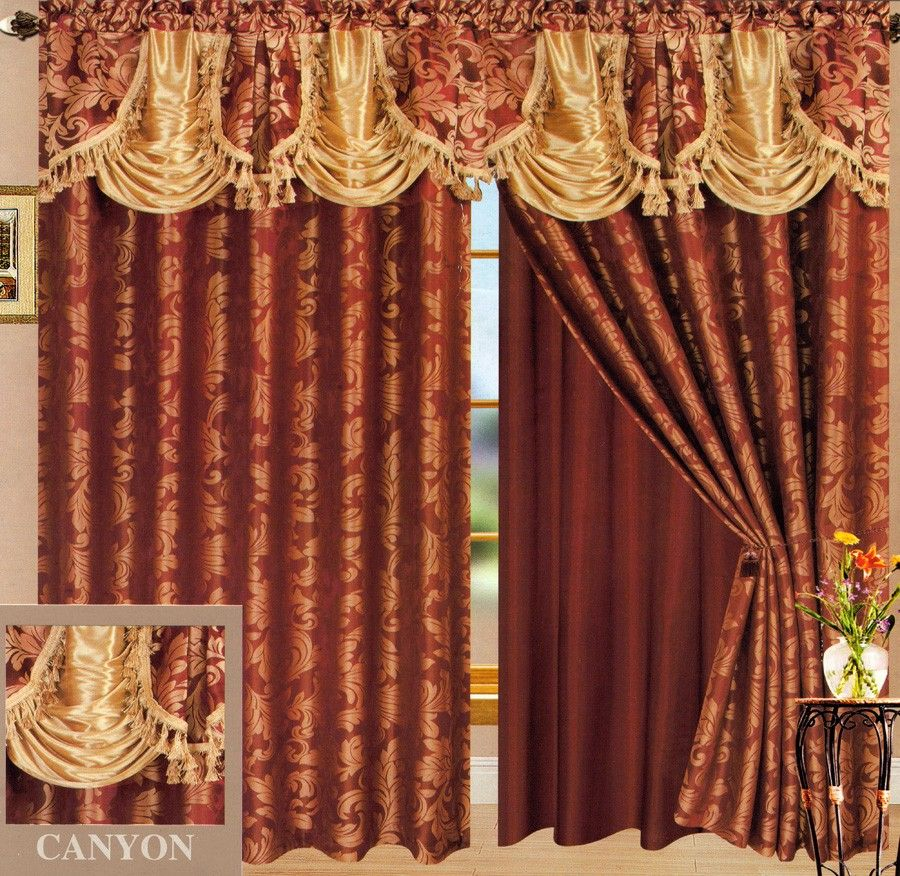 Anyon Jacquard Panel With Attached Valance Paneling