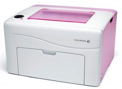 Pink Colour Laser Printer Fuji Xerox Docuprint Cp105b With