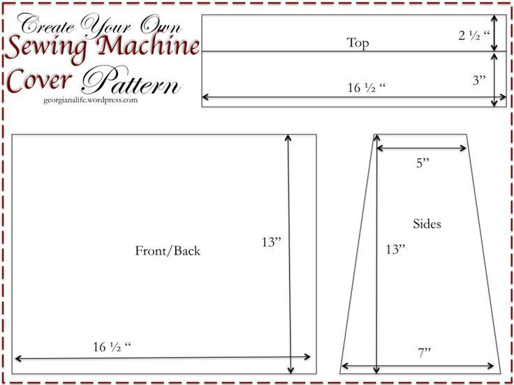 Custom-made Cover for Your Sewing Machine | Sewing machine cover ...
