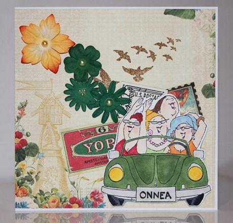 Art Impressions Ai Girlfriends Shoppers Front (Sku#T3568) Handmade birthday card.