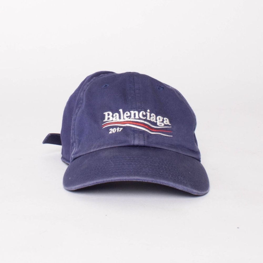 2db8194a405 Balenciaga Campaign Logo Hat in Blue 2017 Bernie Sanders  fashion  clothing   shoes  accessories  mensaccessories  hats (ebay link)