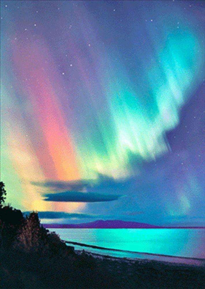 AURORA BOREALIS (Northern Lights)-3D & Motion Postcard ...