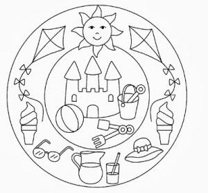This page has a lot of free printable Summer mandala coloring page