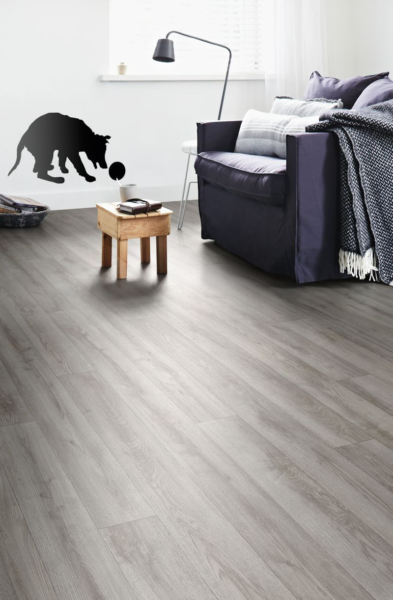 The Cool Grey Tones Of Designatex Vinyl Flooring In