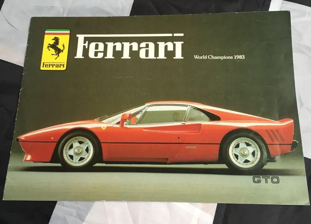 1984 Ferrari Maranello Range 288 Gto Testarossa 308 Gtb 400i Brochure Prospekt Ferrari World Ferrari Maranello