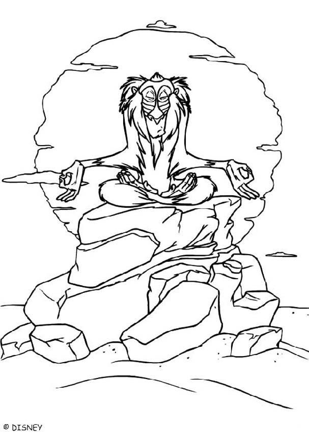 Rafiki Meditates coloring page | Coloring Pages | Pinterest | Tattoo ...