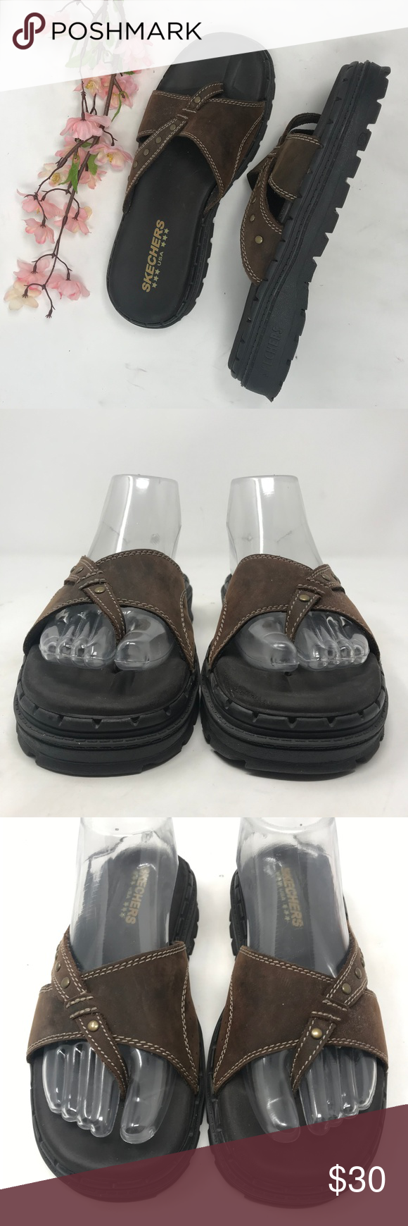Skechers Jammers Vintage Chunky Sandals Grunge 8 Brand Skechers