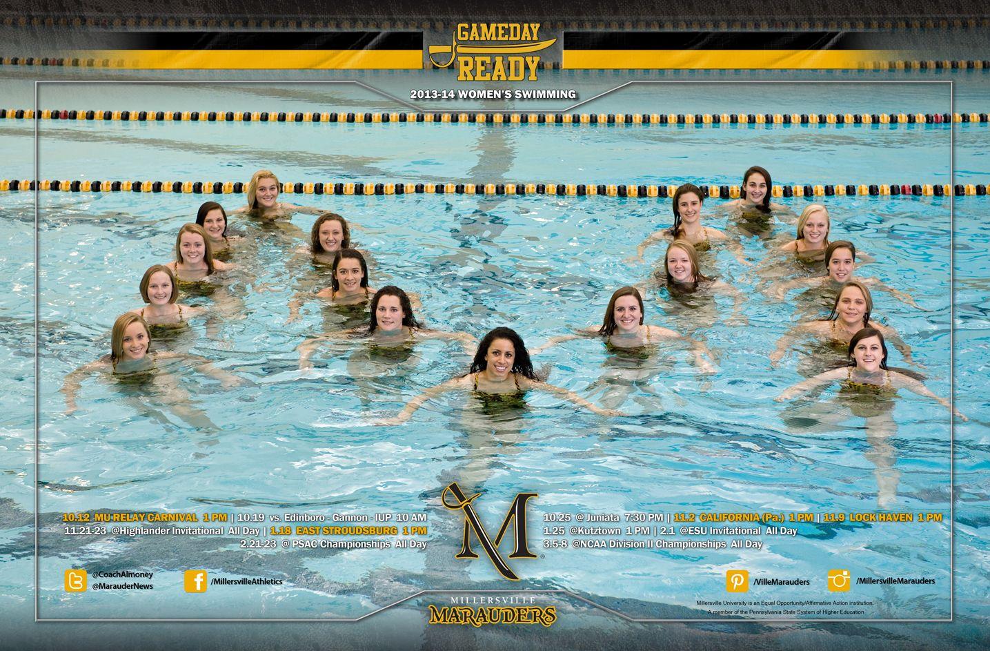 2013 14 Women S Swimming Team Poster Gamedayready Swim Team Swim Coach Swim 2017