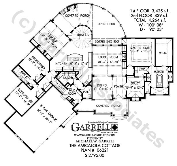 Amicalola Cottage House Plan | House Plans by Garrell Associates ...