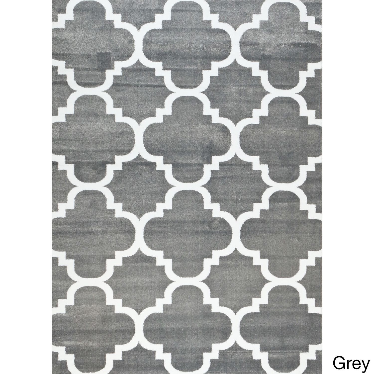 Two Tone Pattern Contemporary Moroccan Style Area Rug