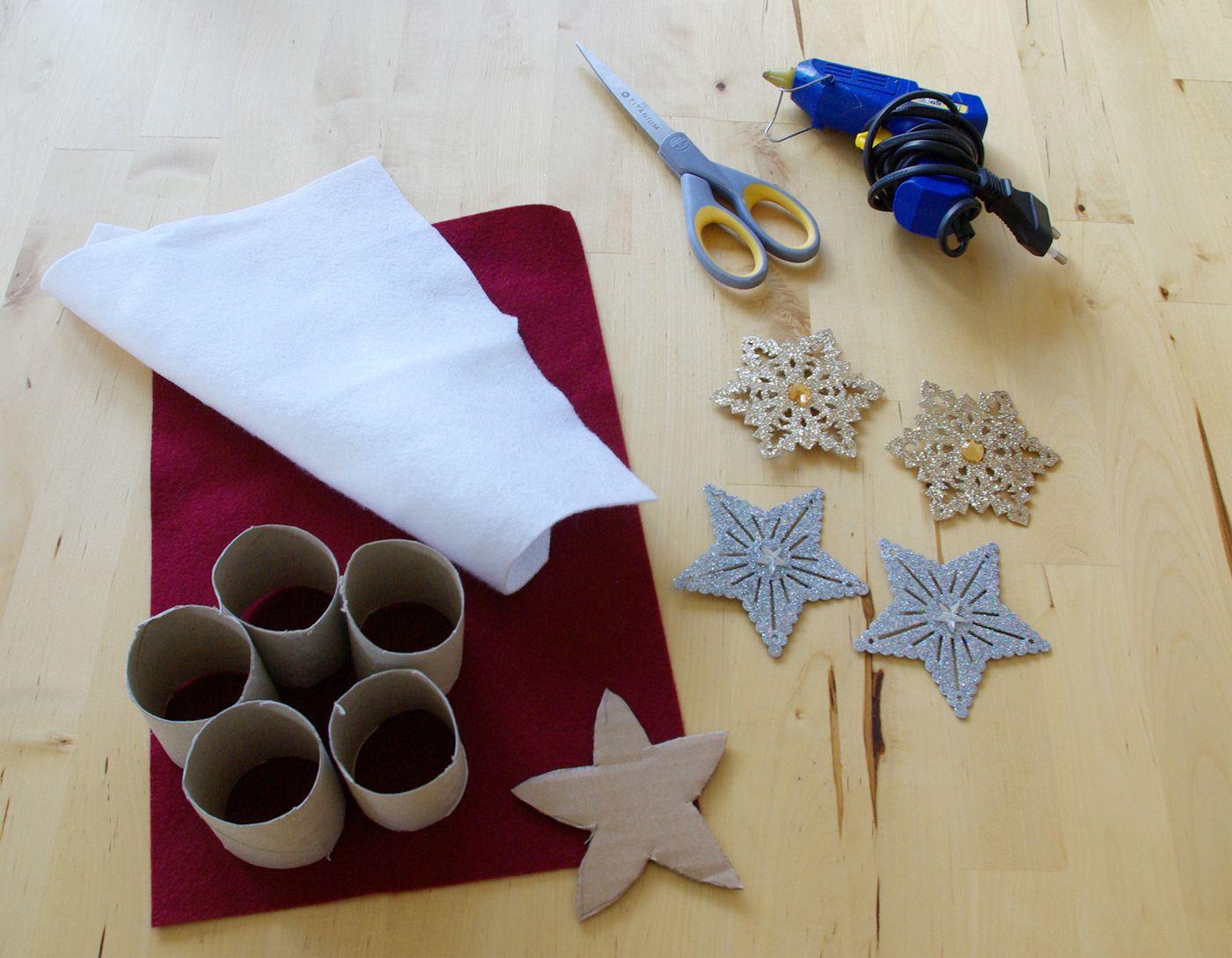 weihnachten weihnachts deko dekoration serviettenringe selber machen anleitung material. Black Bedroom Furniture Sets. Home Design Ideas