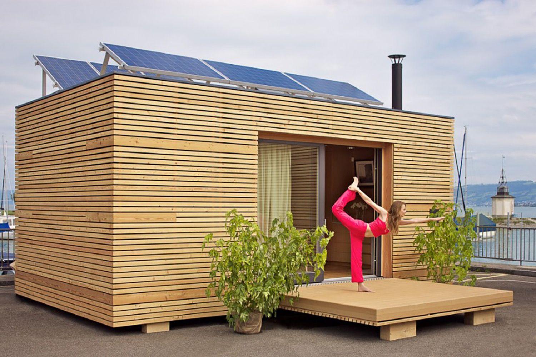 Neues wohnen im cubig designhaus minihaus tiny houses casas for Cubig minihaus