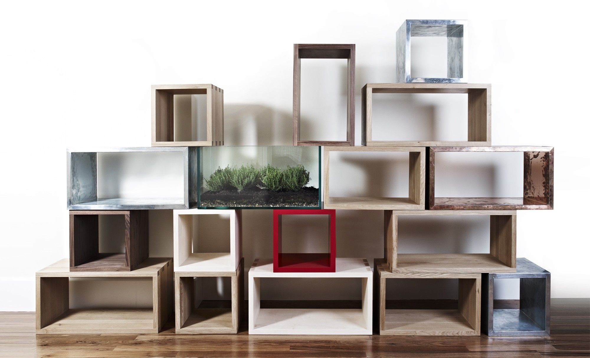 Q-UBES COLLECTION and STACK-ED DESK by Rolf Sachs / David Linley