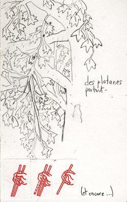 Carnets d'Avril Carnets de mademoiselle avril  Platanes - encore