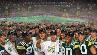 Artist Andrew Goralski: Super Bowl XLV Champions GREENBAY PACKERS