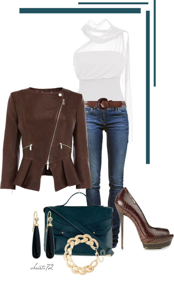 """Leather Jacket"" by christa72 ❤ liked on Polyvore"
