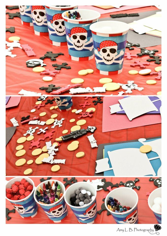 like the skull and crossbones  Pirate Party crafts