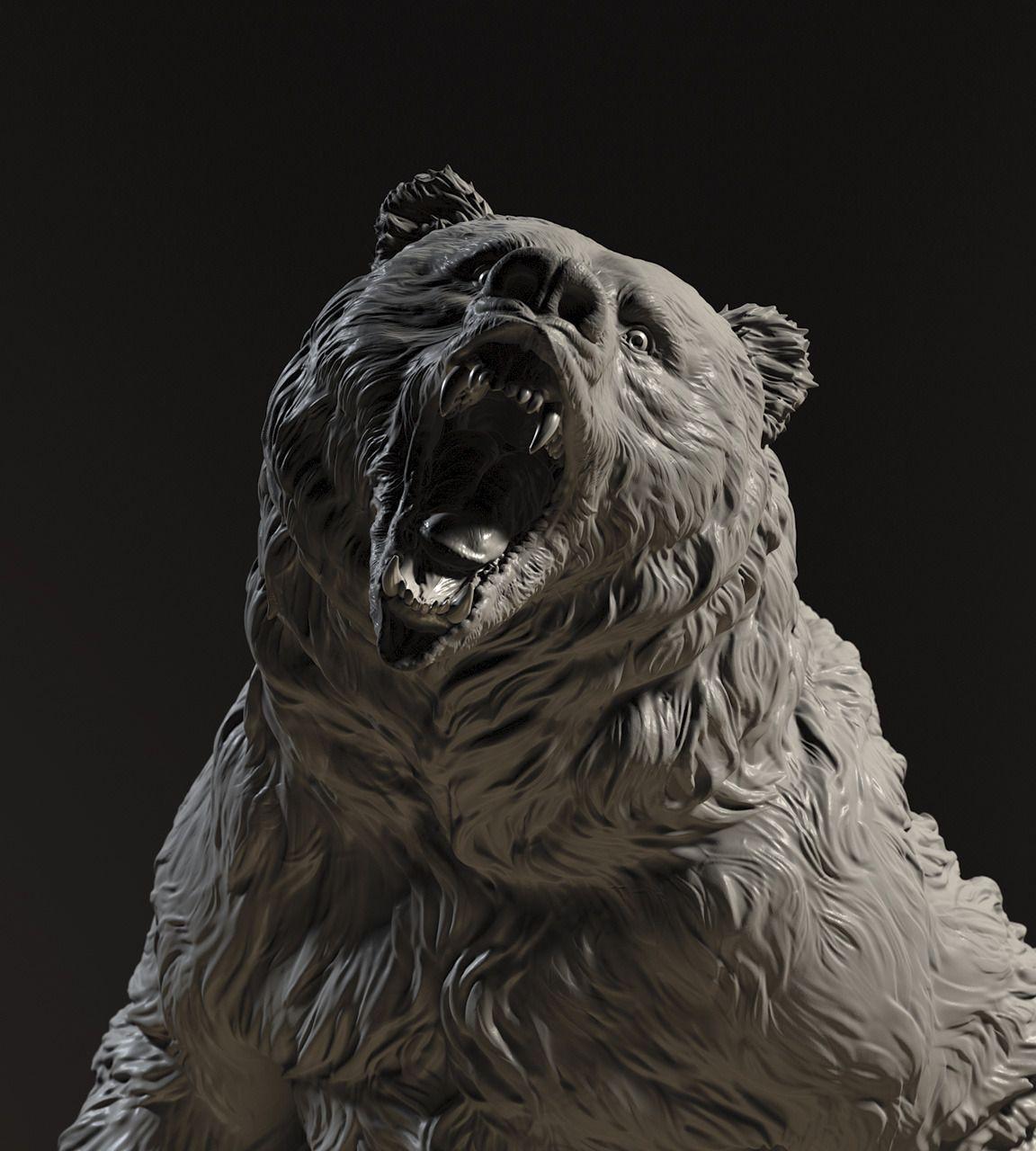 Fur sculpting reference | sculpting | Zbrush, Digital