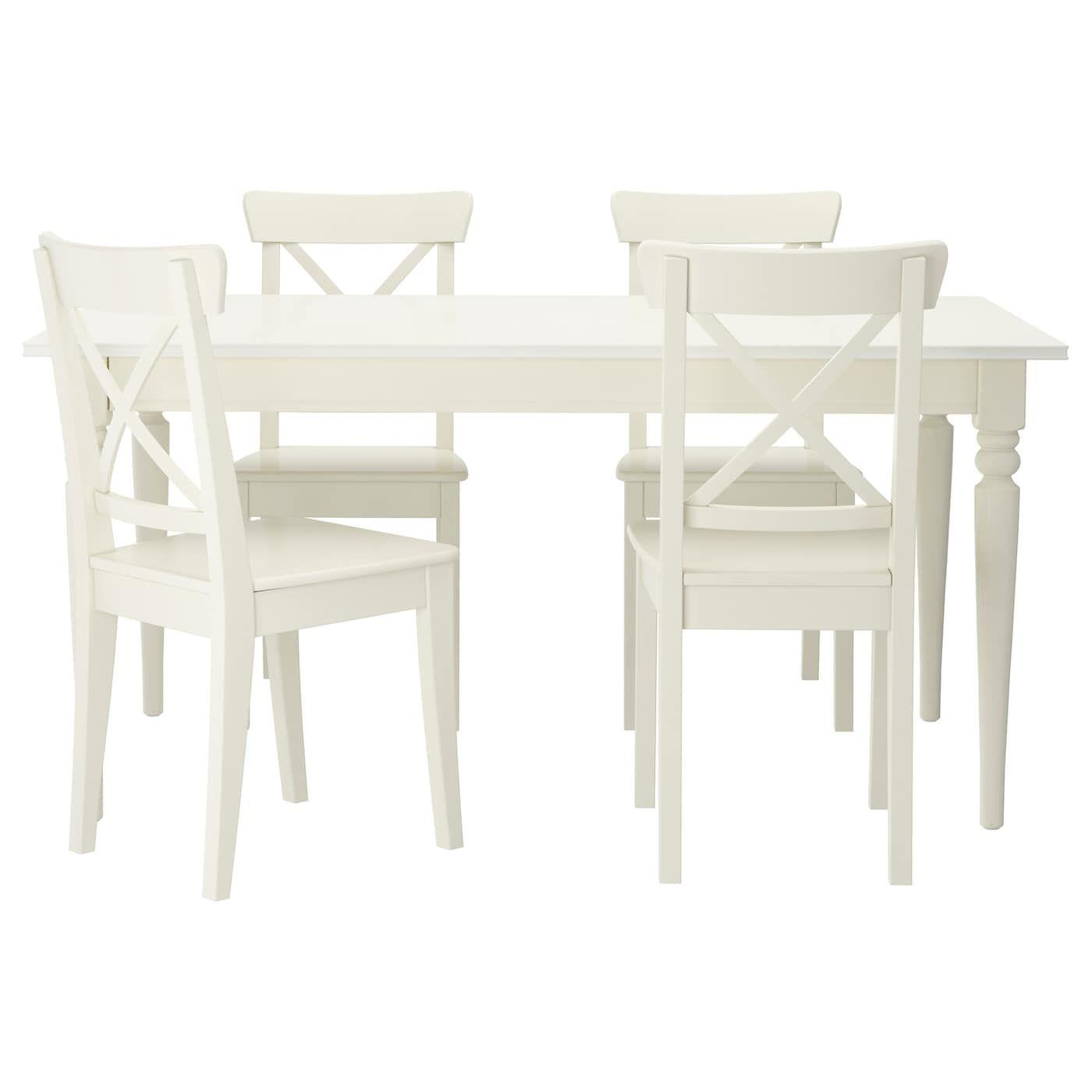 Ingatorp Ingolf Table And 4 Chairs White Ikea White Kitchen