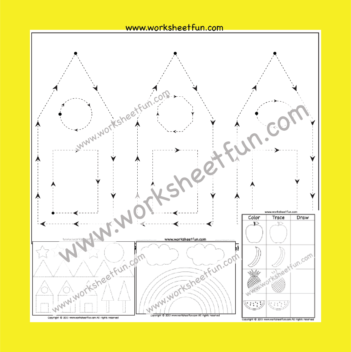 Picture Tracing Worksheets