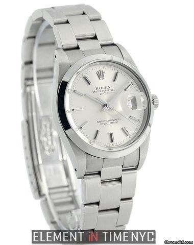 Rolex Oyster Perpetual Date 34mm Stainless Steel Silver