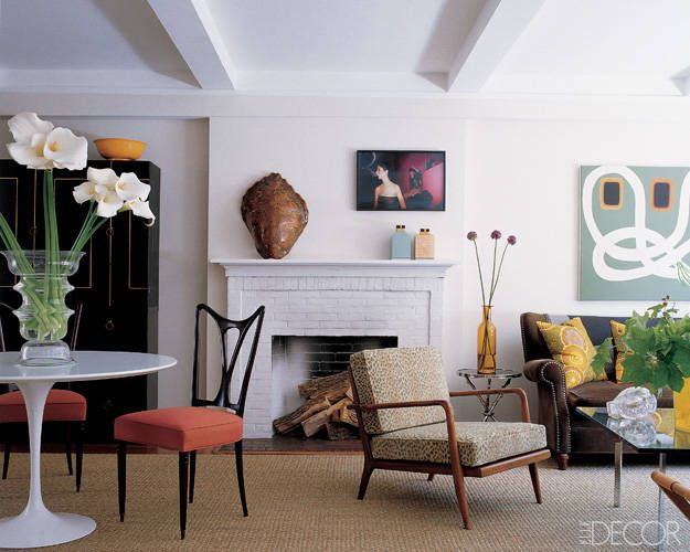 fashion designers homes. Fashion Designer Homes  Peter Som S Eclectic Apartment Tiger Armchair And Pillows Houses Of Style Elle Decor West Village Apartments