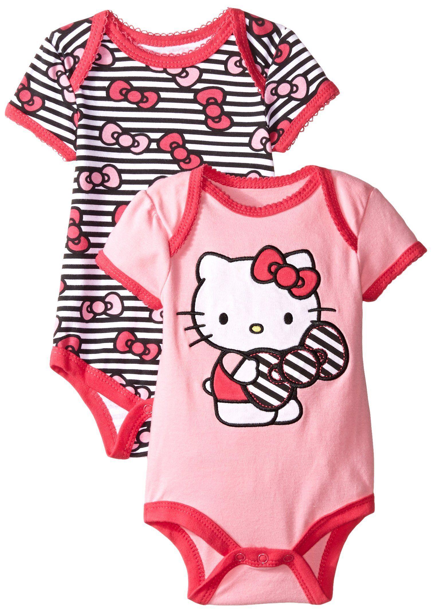 Hello Kitty Infant Girls 2 Pack Bodysuit Pink 3-6 Months