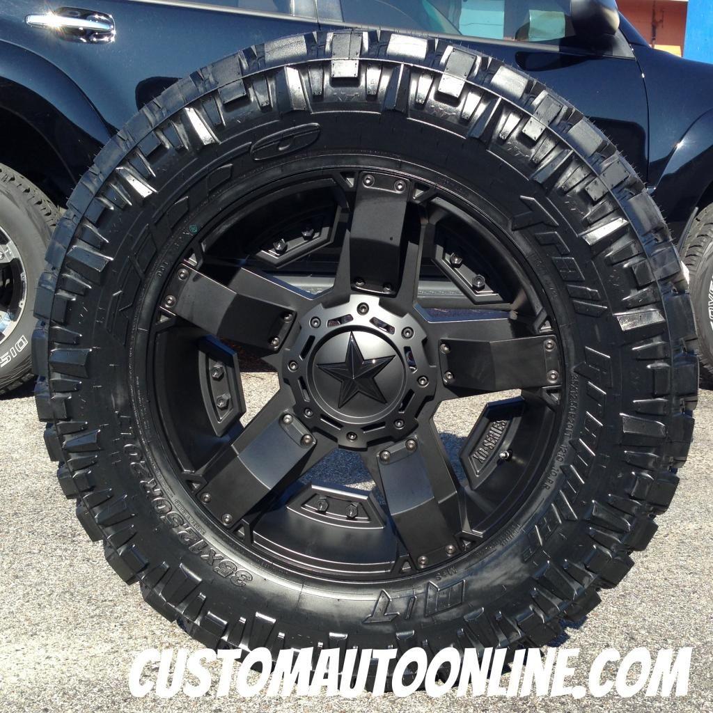 20x9 Xd Rockstar Ii Rs 2 811 Black 35x12 50r20 Nitto Trail Grappler Truck Rims And Tires Jeep Rims Truck Rims