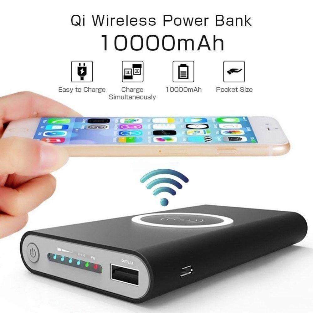 10000mah Universal Portable Power Bank Qi Wireless Charger For Iphone Samsung Tollcuudda Power Bank Charger Powerbank Wireless Charger