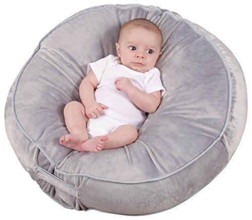 Leachco Podster Plush Sling Style Infant Lounger Gray