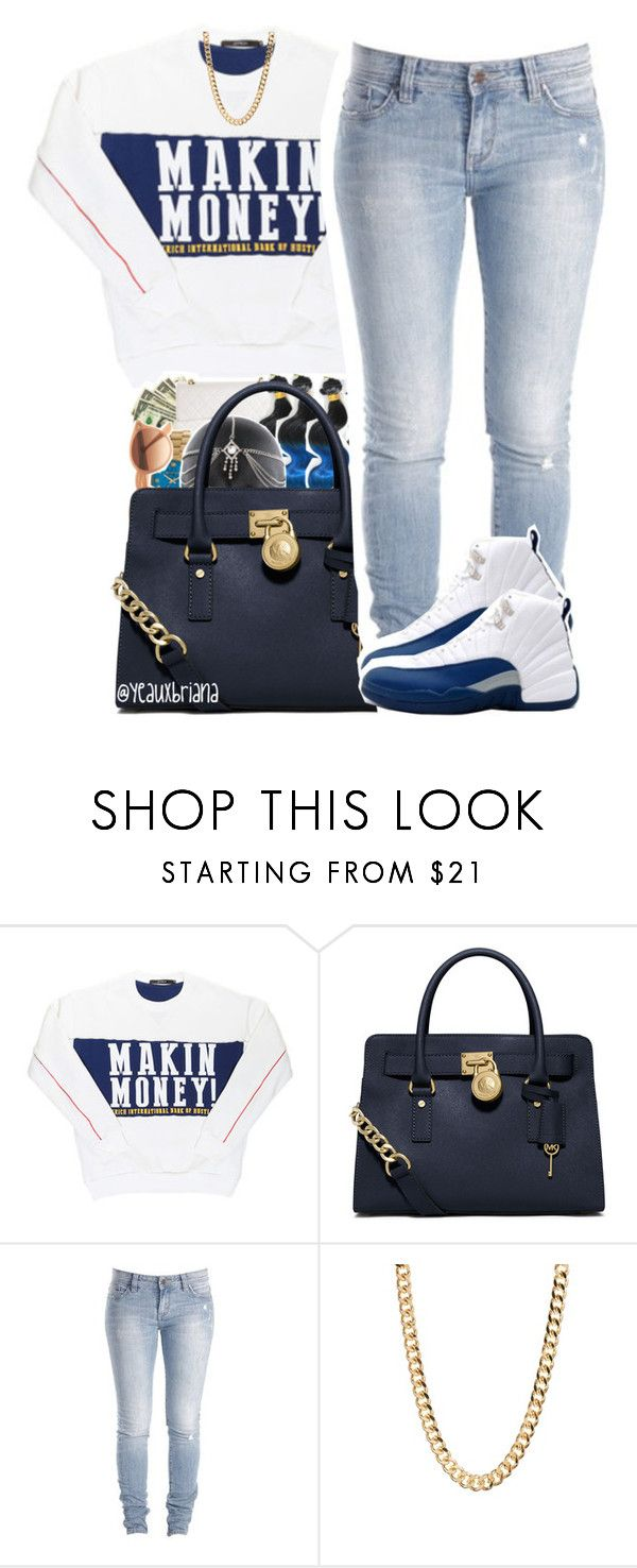 """""""4/10/2016"""" by yeauxbriana ❤ liked on Polyvore featuring Off-White, MICHAEL Michael Kors, Lee and NIKE"""