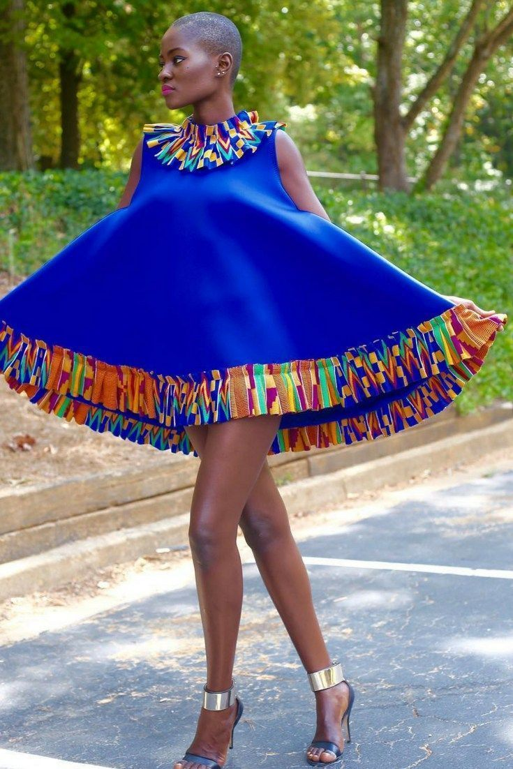 Hamamat montia in kente style african fashion ankara kitenge