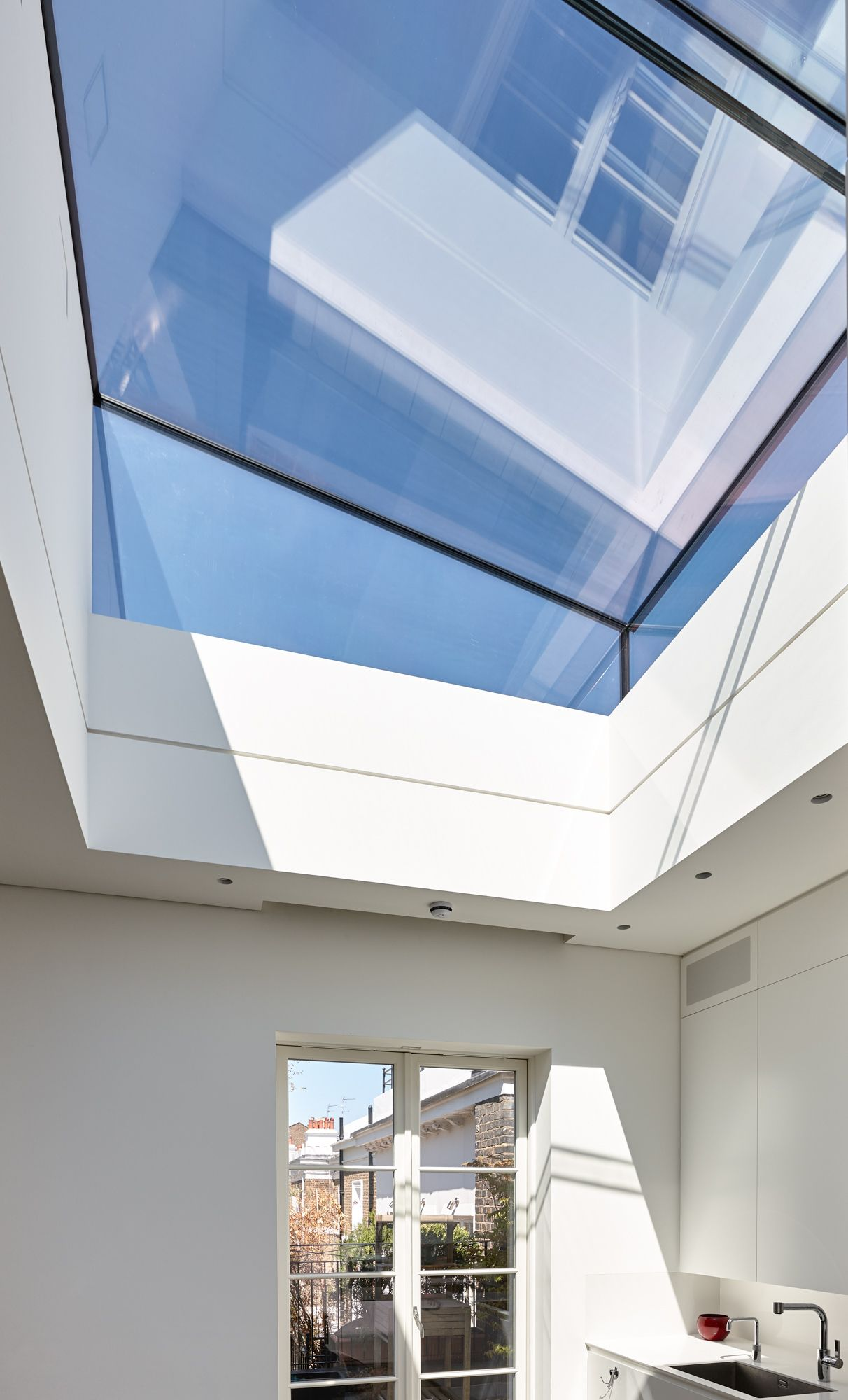 Trombe   Internal Photo Looking Up To A Frameless Rooflight To Provide  Light To A Kitchen. Roof TerracesLoft ...