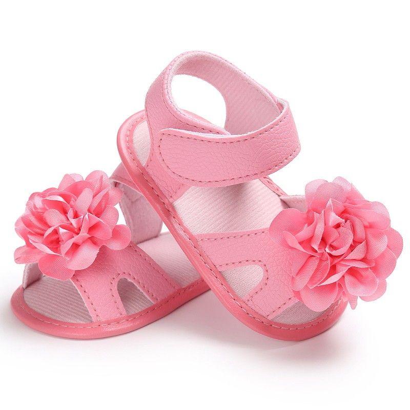 UK Infant Newborn Baby Girls Soft Sole Sandals Toddlers Summer Sandal Crib Shoes