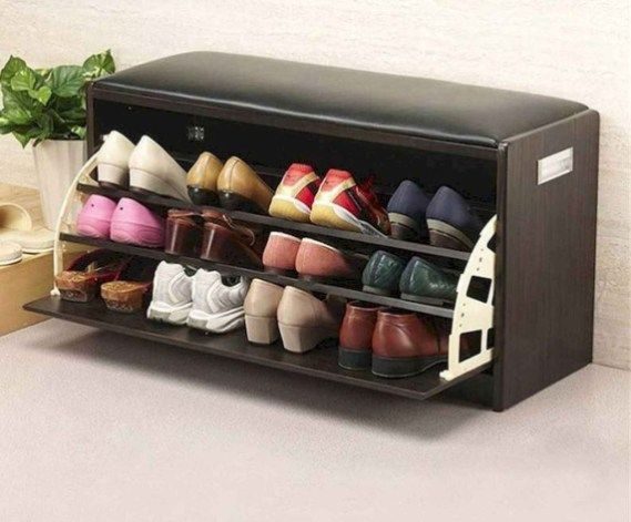 40 Simple Wooden Rack Idea to Store Your Shoes Collection –