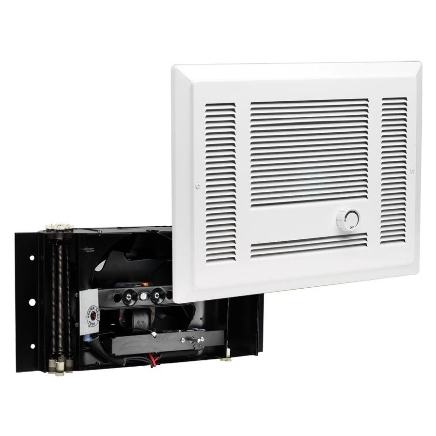 Cadet Sl 1 000 Watt 120 Volt Fan Heater 4 In L X 12 9 In H Grille Sl101tw In 2020 Best Space Heater Electric Fan Wall Fans