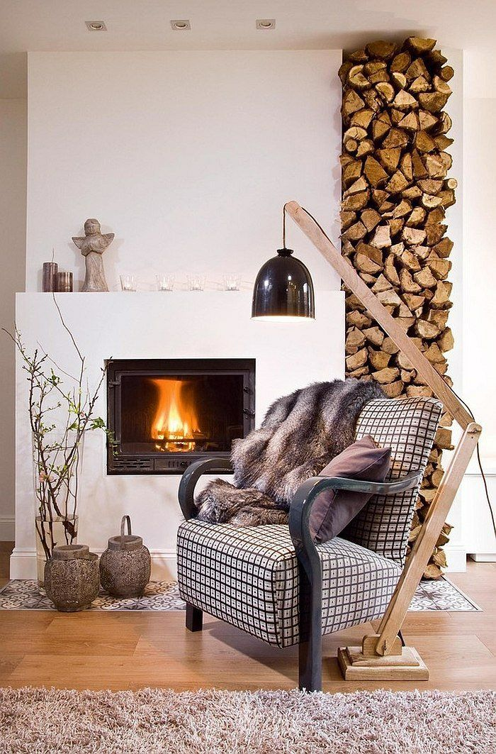 brennholz lagern intern einbau sessel pelzsessel | fire