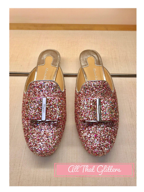 glitter mule shoes