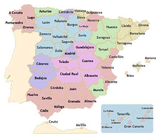 Aprende Las Autonomías De España Y Sus Capitales Mapa De España Provincias España Actividades De Geografía