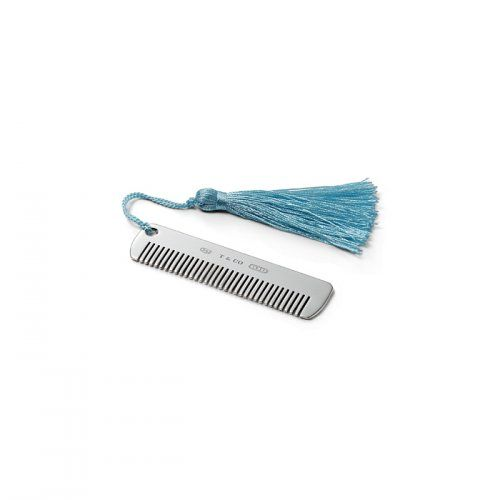 Tiffany 1837™ comb, with blue tassel