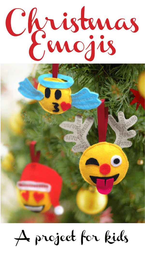 i was just looking for a little project for my own girls the other day and i came up with these emoji christmas decorations emojis are everywhere at the