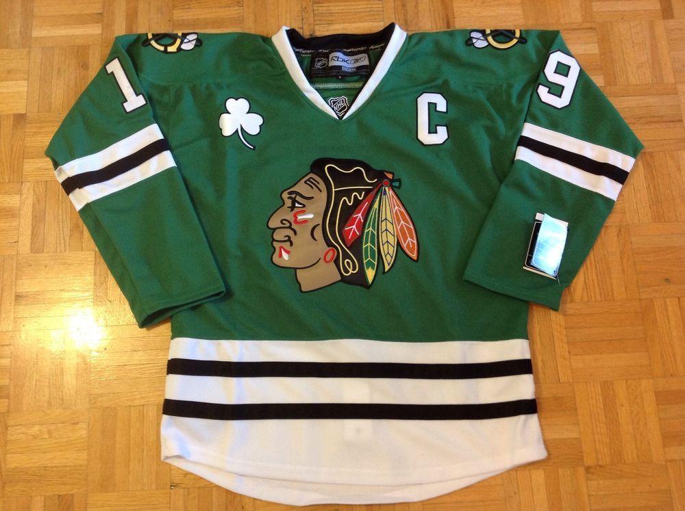 separation shoes b186c 8d195 Chicago Blackhawks Green St. Patricks Day Nhl Jersey - Toews ...