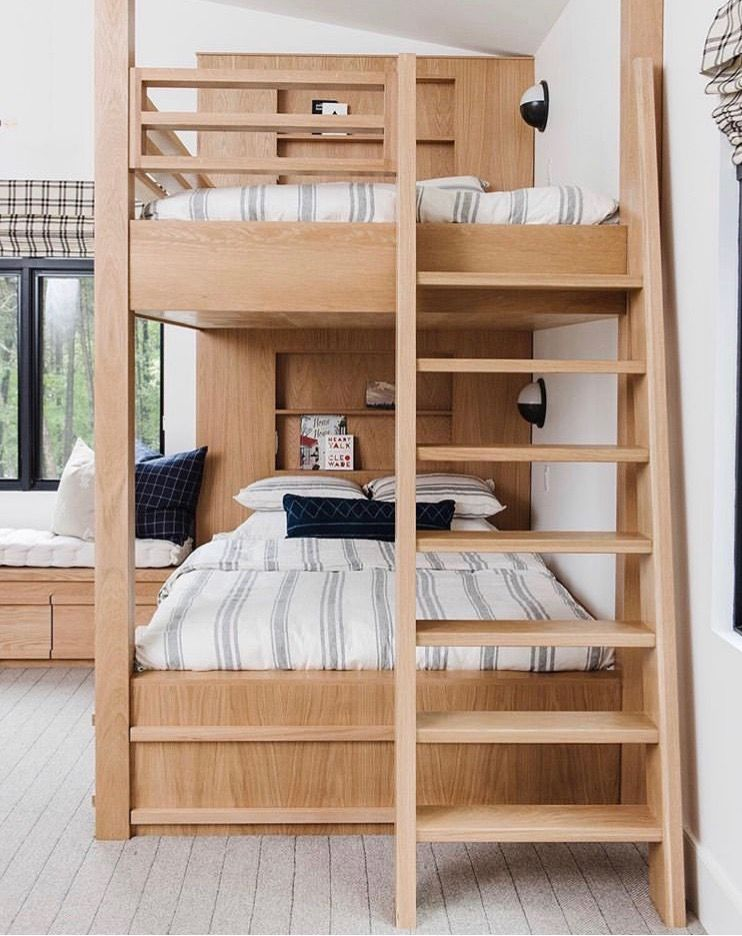 Studio Mcgee Queen Bunk Beds With Images Modern Bunk Beds