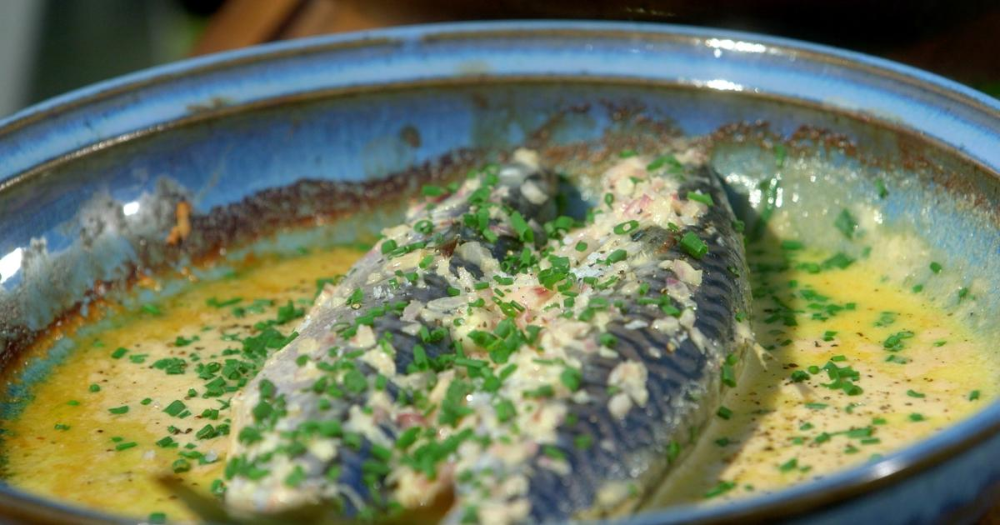 Photo of My recipe for roasted mackerel with cider and farm cream – …