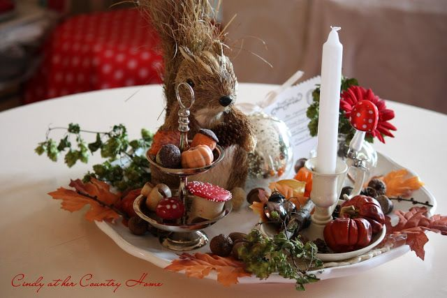 """Cindy at her Country Home: """"So cozy, Autumn colors in our home…"""""""