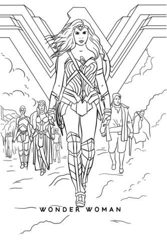 Wonder Woman Movie Dibujo Para Colorear Paginas Para Colorear