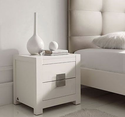 Mesas de noche modernas blancas buscar con google mesa for Mesitas de noche blancas