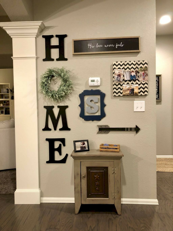 Love This Idea For Living Room And Change The Wreath For Each Season Farm House Living Room Farmhouse Wall Decor Living Decor