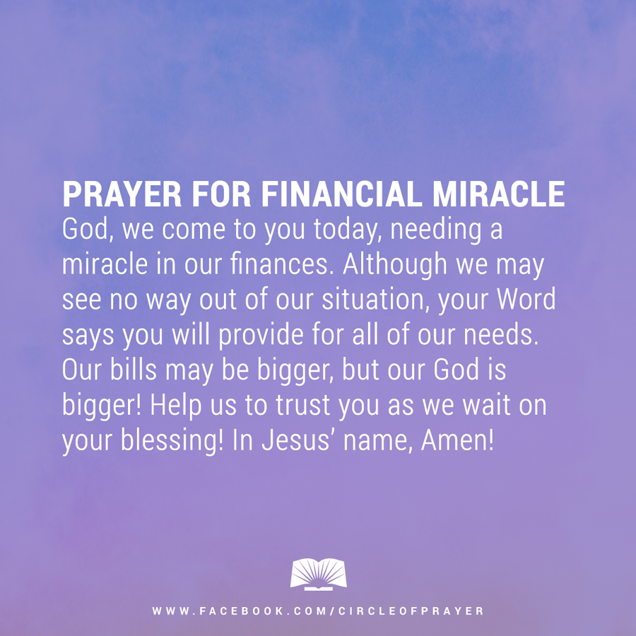 prayer for financial miracle | faith | Miracle prayer