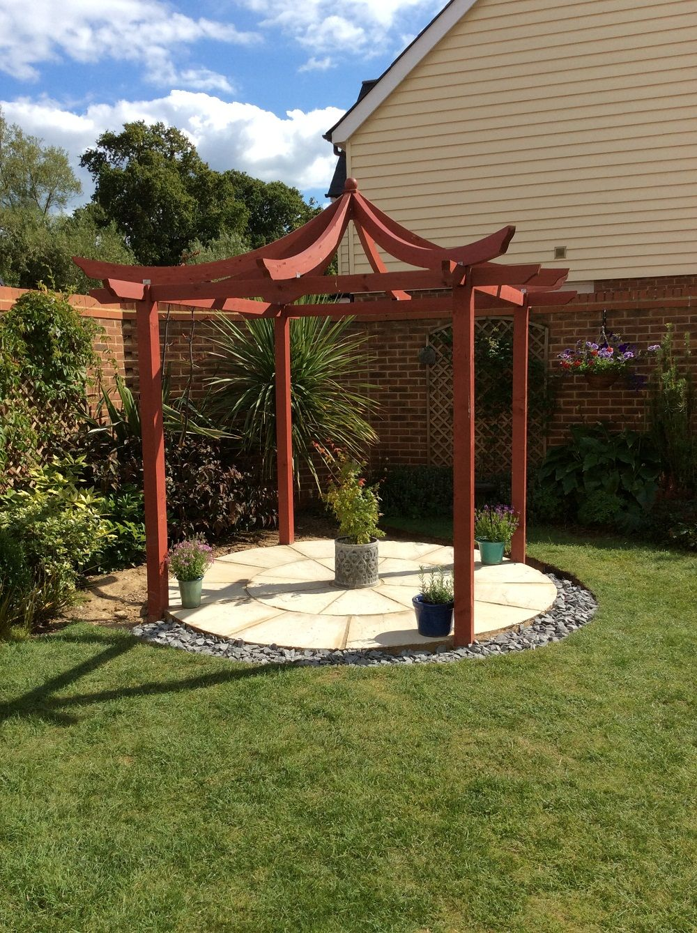 the japanese pergola is an attractive oriental style garden